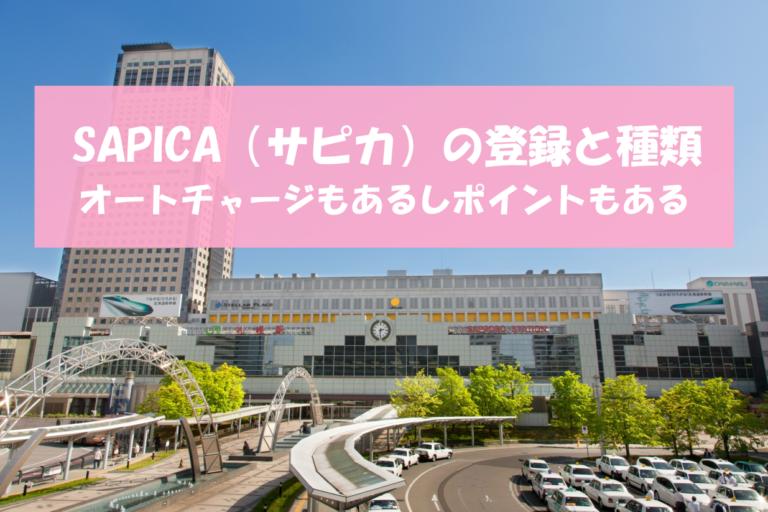 SAPICA(サピカ)の登録と種類|オートチャージもあるしポイントもある